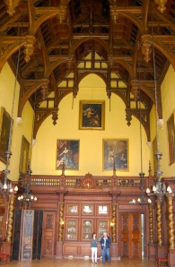 The Grand Hall at Burghley House